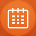 Calendar flat circle-128