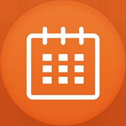 Calendar flat circle