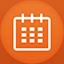 Calendar flat circle Icon