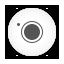 Camera white round icon