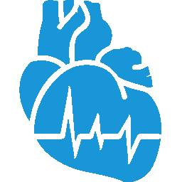 Cardiology blue