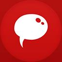 Chat flat circle-128