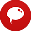 Chat flat circle Icon