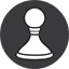 Chess Game grey Icon