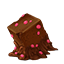 Chocolate cube icon
