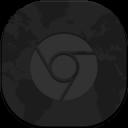 Chrome Flat Round