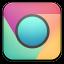 Chrome Play Colours Dark Center Icon