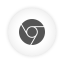 Chrome white round icon