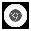 Chrome white round Icon