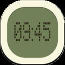Clock Digital Flat Round