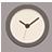 Clock flat brown-48