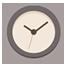 Clock flat brown