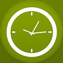 Clock flat circle-128
