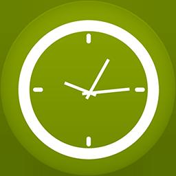 Clock flat circle