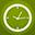 Clock flat circle-32