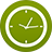Clock flat circle-48