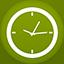 Clock flat circle icon