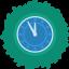 Clock Wreath Icon