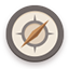 Compass flat brown icon