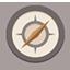 Compass flat brown