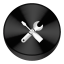 Config Black Drive Circle icon
