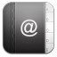 Contacts Black Alt icon