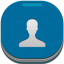 Contacts Flat Round icon