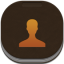 Contacts Gold Flat Round Icon