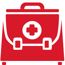 Doctor Briefcase red