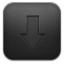Downloads Black icon