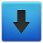 Downloads Blue Icon