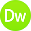 Dreamviewer flat circle icon