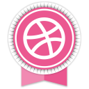 Dribbble Round Ribbon-128
