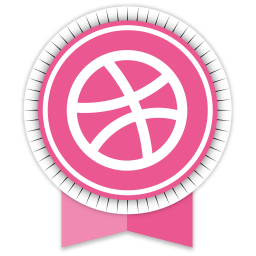 Dribbble Round Ribbon