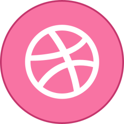 Dribbble Round With Border
