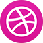 Dribble flat circle icon