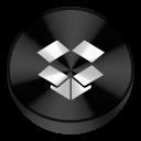 Dropbox Black Drive Circle-128