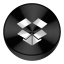 Dropbox Black Drive Circle Icon