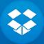 Dropbox flat circle icon