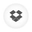 Dropbox white round icon