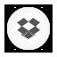 Dropbox white round Icon