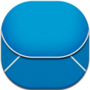 Email Blue Flat Round