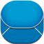 Email Blue Flat Round icon