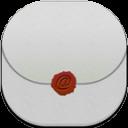 Email Flat Round