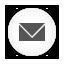 Email white round icon