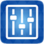 Equaliser blue icon