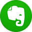Evernote flat circle icon
