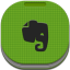 Evernote Flat Round icon