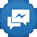 Facebook Messenger flat circle-128