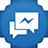 Facebook Messenger flat circle-48